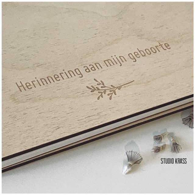 Verwonderlijk Houten gastenboek voor Huwelijk | Geboorte | Bruiloft - Studio KRASS LJ-38