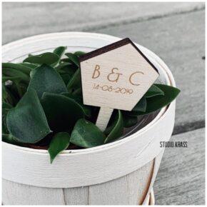 houten plantenprikker, planten label, gepersonaliseerde planten prikker, houten planten label, plantenprikker, plantenprikker uit hout