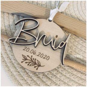Bruid hanger in hout, bruidskleed houten hanger