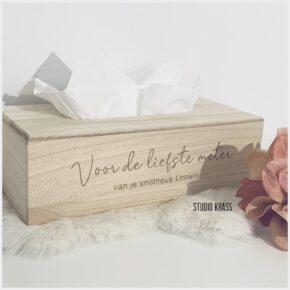 tissuedoos, tissuebox, tissuedoos hout, tissuedoos baby, meter cadeau, peter cadeau, tissue doos houder